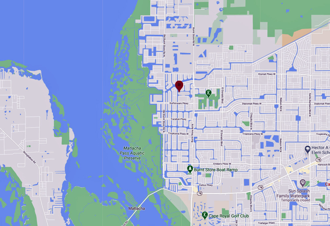 3441 NW 18th Terrace, Cape Coral, FL 33993 Map