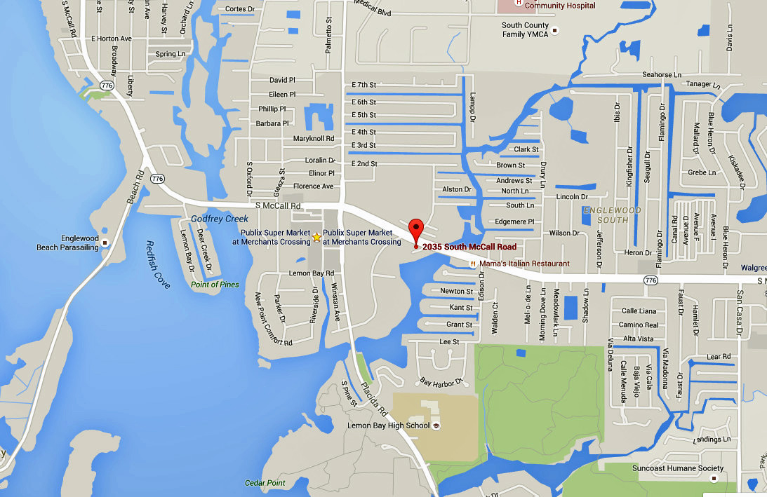 2035 S McCall Road Englewood FL 34224 Map