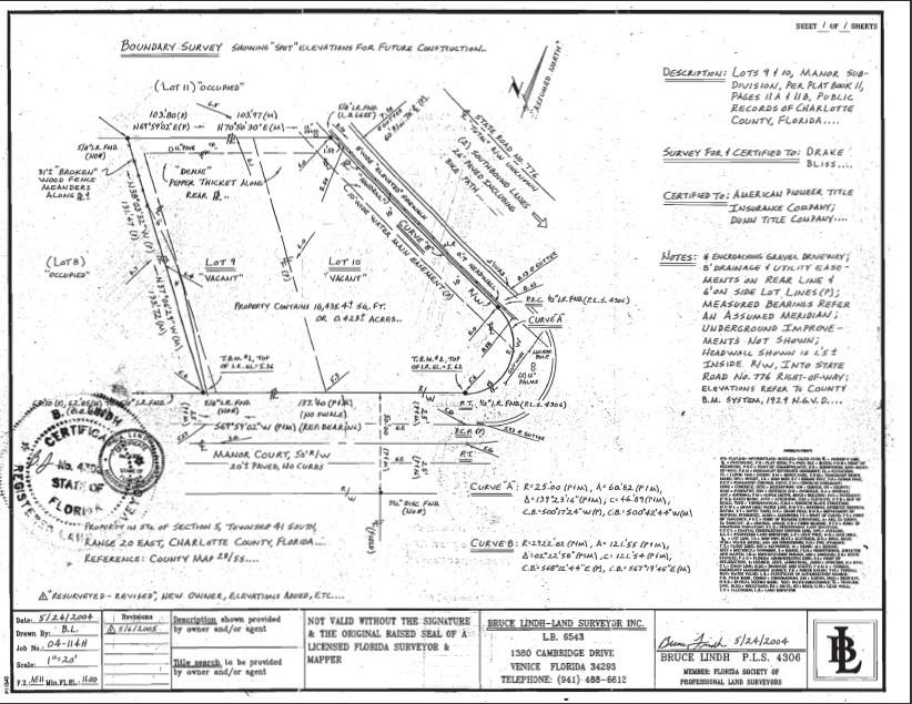 2035 S McCall Road Englewood FL 34224 Survey