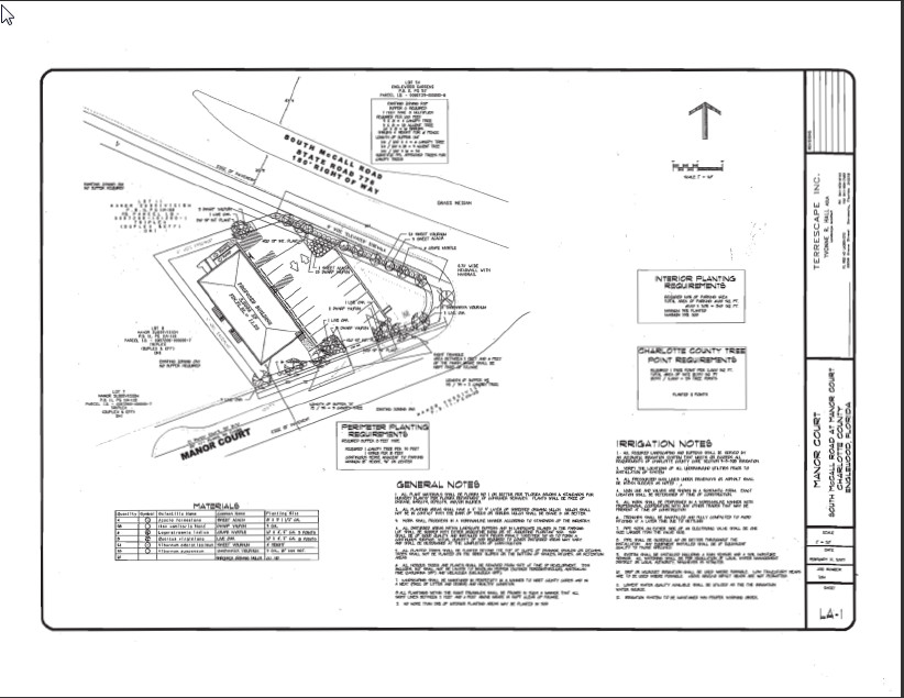 2035 S McCall Road Englewood FL 34224 Site Plan