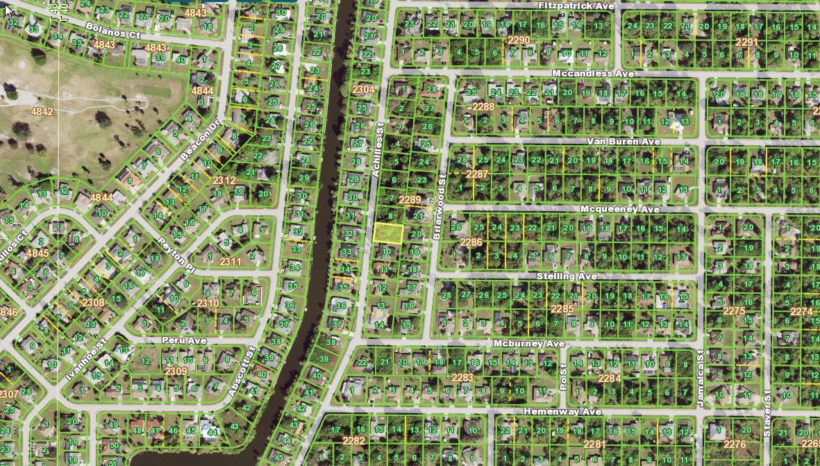 2380 Achilles Street, Port Charlotte FL 33980 Aerial View