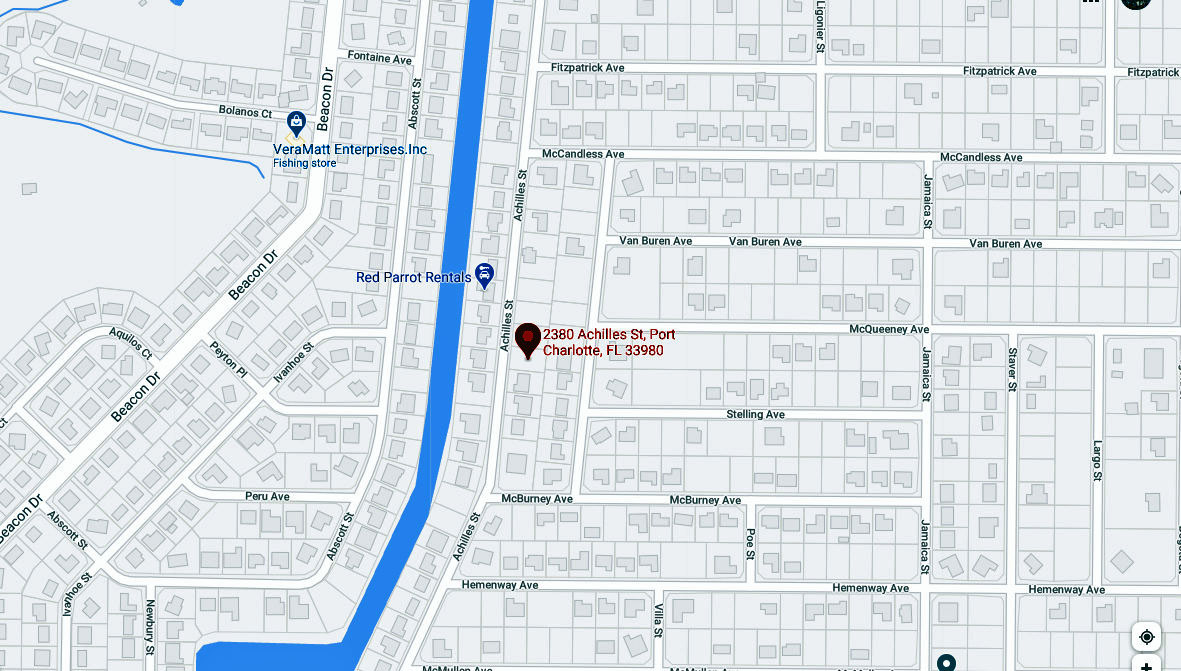 2380 Achilles Street, Port Charlotte FL 33980 Map