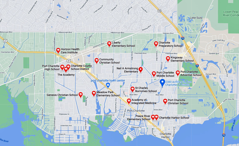 2380 Achilles Street, Port Charlotte FL 33980 Schools