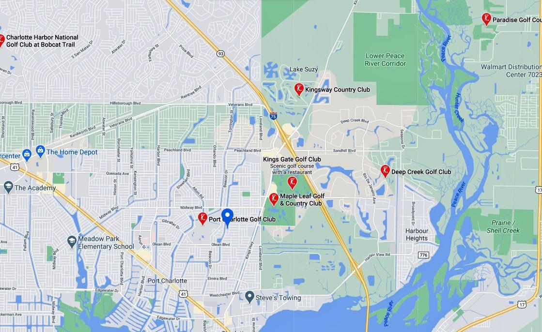 2380 Achilles Street, Port Charlotte FL 33980 Golf Courses