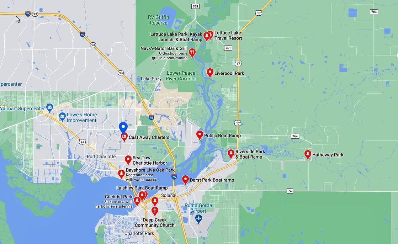2380 Achilles Street, Port Charlotte FL 33980 Boat Ramps